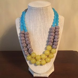 Anthropologie double-strand beaded necklace